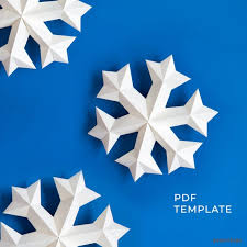 Christmas Snowflakes Pictures Snowflake Ornaments 3d Papercraft Snowflakes Christmas Snowflakes Decoration Download Pdf Template Paper Snowflake Svg Papershape