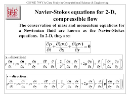 cis me 794y a case study in comtional science engineering navier stokes equations
