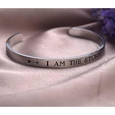 amazon lparkin i am the storm inspirational bracelet empowering jewelry motivating inspirational gift cuff jewelry