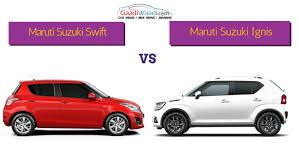 Maruti Suzuki Swift vs Maruti Suzuki Ignis – Spec Comparison