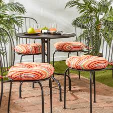 charming bistro chair cushions for your bistro chair decor round stripe bistro chair cushions ornage