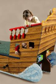 back end play pirate ship bed wooden childrens beds bedroom furniture