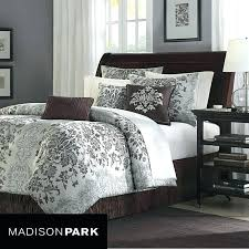 cal king duvet set king bedding set park 7 piece jacquard comforter set in beige fornia