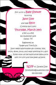 Pink Black Zebra Baby Shower Invitations  Baby Shower InvitationsPink Zebra Baby Shower Invitations