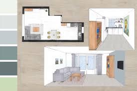 Interieurontwerp Woonkamerkeuken Slaapkamer Kantoor Stripedpanda