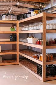 diy basement shelving the wood grain cottage with regard to storage room idea 2