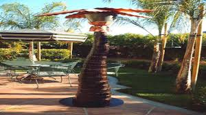 palm tree patio heater and mister designs