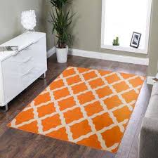 clifton collection moroccan trellis design orange 5 ft x 7 ft area rug