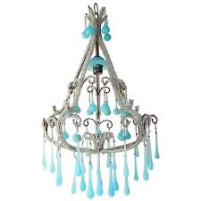 turquoise beaded chandelier french beaded blue drops chandelier 1 turquoise beaded chandelier light