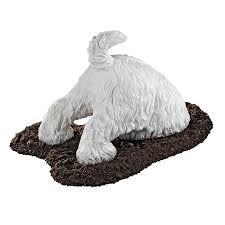 dog garden statue. Design Toscano Highland Terrior Digging Dog 10-in Animal Garden Statue E