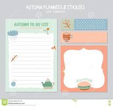 Cute Lists Cute Daily Calendar And To Do List Template Stock Vector