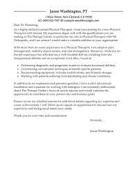Sample Cover Letter For Physical Therapy Internship Milviamaglione Com