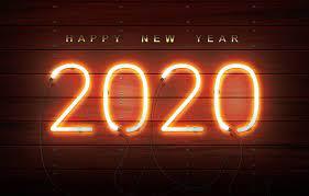 Wallpaper new year, neon, happy new ...