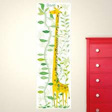 Personalised Giraffe In The Jungle Height Chart