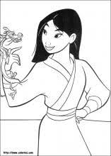 Small Picture Mulan coloring pages on Coloring Bookinfo