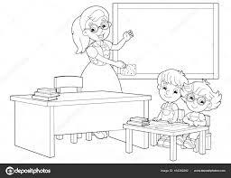 Kinderen En Leraar In De Klas Hand In Hand Omhoog Stockvector