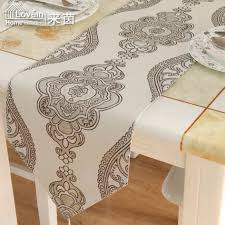 Sweet Embroidery Rustic Table Runner Gremial White Table Overlays Size  38x160cm Woven Embroidered White Table Runner 100 Polyester Material