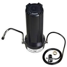 home master jr f2 counter top water filter system in black