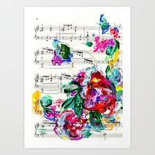 Music Paper Print Music Paper Art Prints Society6