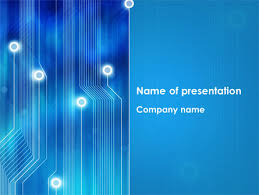 Powerpoint Circuit Theme Blue Circuit Free Presentation Template For Google Slides