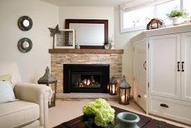 dazzling corner gas fireplace trend toronto traditional basement innovative designs with airy basement bright built ins cozy family room fireplace stone