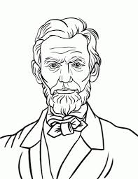 abraham lincoln coloring page for sweet shocking best eagleeme memorial draw in pages