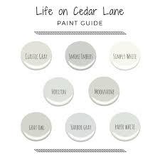 Cool Life Paint Color Chart Cedar Lane Paint Colors Life On Cedar Lane