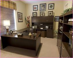decorate an office. Marvelous Design Of The Office Decoration Ideas With Black Wooden Table Added Bookcase Decorate An D