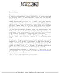 Solicitation Latter Solicitation Letter Oratory Preparatory School