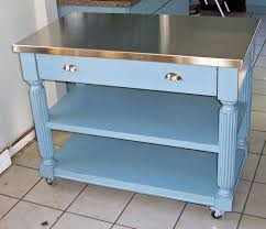 Kitchen Work Table On Wheels Cool Stainless Steel Kitchen Work Table Island Radioritascom