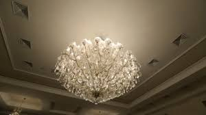 gorgeous crystal chandelier made in form of tree branches stock
