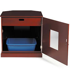 corner cat litter box furniture. Corner End Table Cat Litter Cabinet With Concealed Drawer, Mahogany Finish Box Furniture H