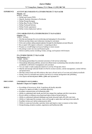 Resume Define Platform Product Manager Resume Samples Velvet Jobs 67