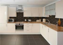 Best image of Grey Kitchen Floor Tiles with wooden countertop