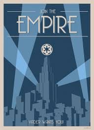 star wars art deco style poster join the empire ur