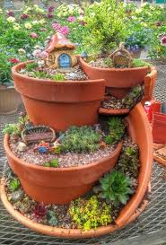 broken pot fairy garden idea tap the link now for more home functional and fun improvement products