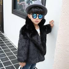 2018 winter little boys fur jackets kids fox fur coats soft girls faux fur clothes toddler