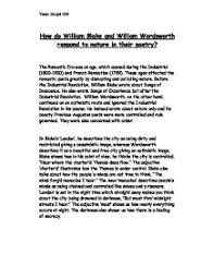 how do william blake and william wordsworth respond to nature in  page 1 zoom in
