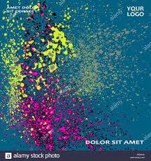 Blue Light Spray Neon Explosion Paint Splatter Artistic Cover Frame Design