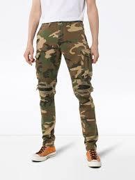 Designer Camo Pants Amiri Camouflage Print Cargo Trousers Farfetch Com