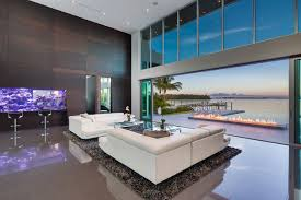 Modern Living Room w/ Living Color Aquarium Wall contemporary-living-room