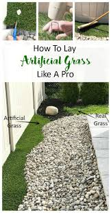 Artificial turf backyard Back Yard Learn Just How Easy It Is To Lay Artificial Grass At Home For Easy Maintenance How To Lay Artificial Grass Like Pro Pretty Fix
