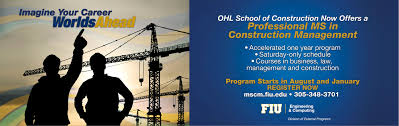 Professional Ms In Construction Management Fiu College Of