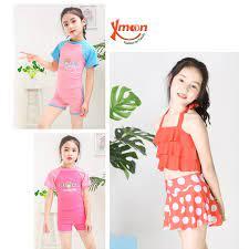 Áo bơi áo tắm bé gái 10-16kg 3-6 tuổi 2 mảnh thời trang BG510B - Đồ bơi bé  gái