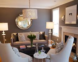 Light Gray Living Room Furniture Dark Gray Walls Light Gray Couch Bright  Accents
