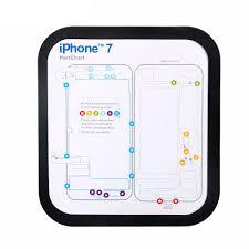 Magnetic Screw Keeper Memory Chart Mat For Iphone 6 6s Plus 7 7 Plus Teardown Repair Guide Pad Phone Repair Tools Kit