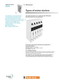 types of motor starters schneider electric pages 1 4 text version fliphtml5