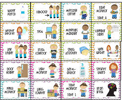 Preschool Classroom Job Chart Printables Classroom Jobs Printable Water Patrol Caboose Message Free