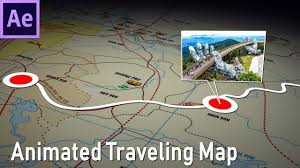 Animated Travel Map How To Make Animated Travel Map In After Effects