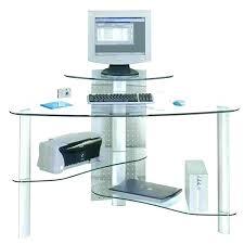 corner desk glass glass corner silver metal